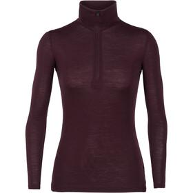 Icebreaker 175 Everyday LS Half Zip Shirt Dam velvet